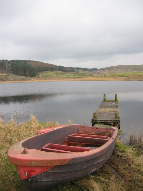 Rowing Boat and Jetty at Skeroblin Loch