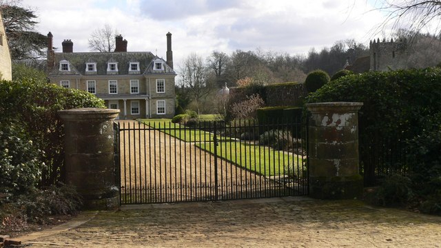 Through the gates of Woolbeding House