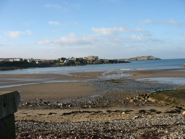 Traeth Mawr begins to emerge as the waters ebb