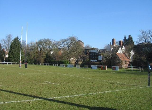 Rugby ground - Grange Road end