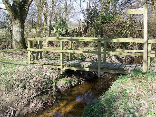 Footbridge near Crow