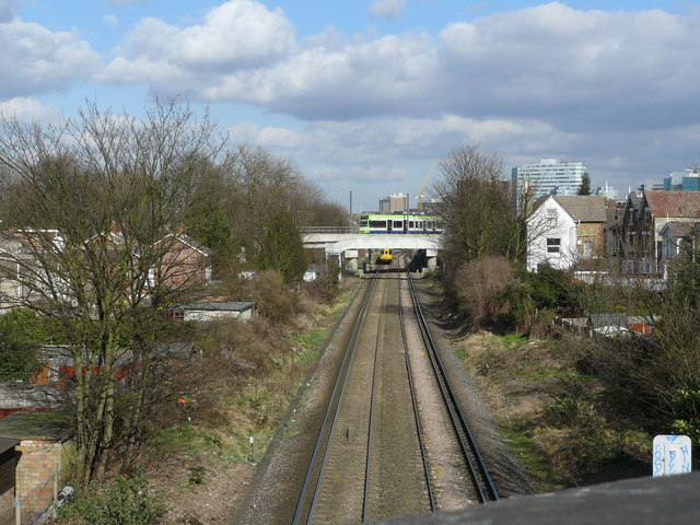 Railway Line Near Wandle Park