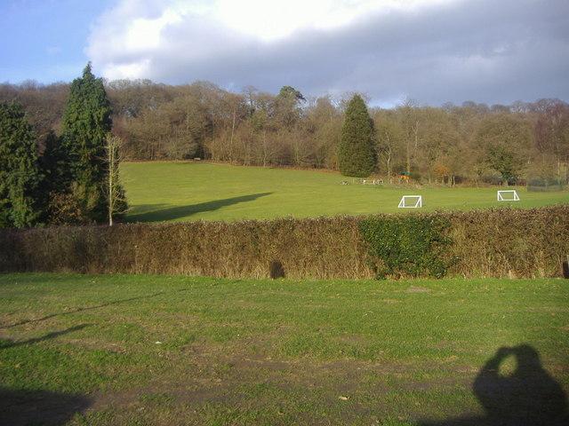 Sports ground and hills, Brook, Surrey