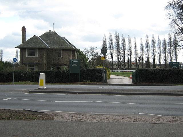 Narrow Entrance To Highfields Sport Grounds