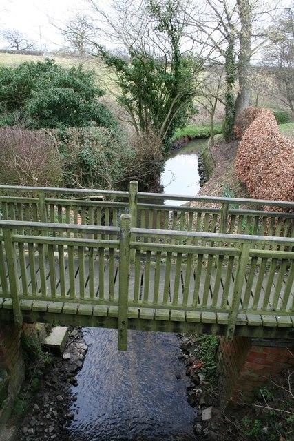 Private footbridge