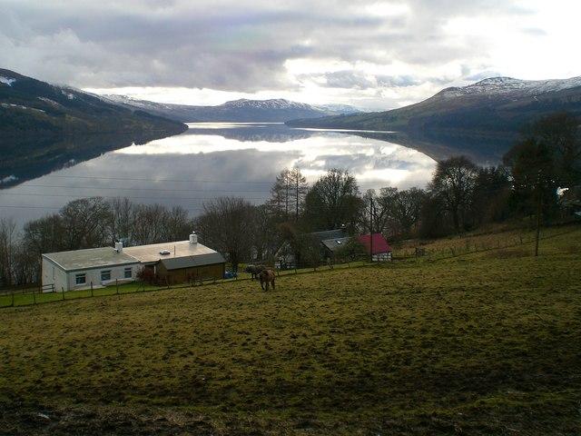 Loch Tay from high road Fearnan