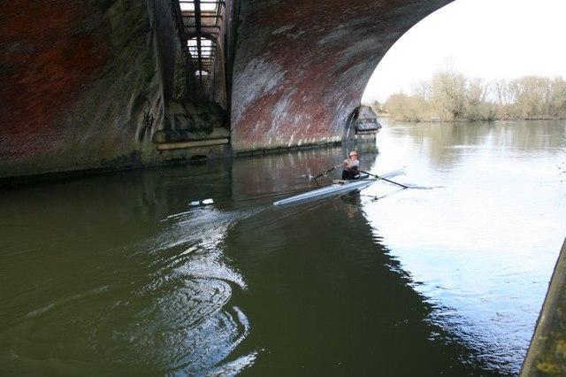 Sculling under the bridge