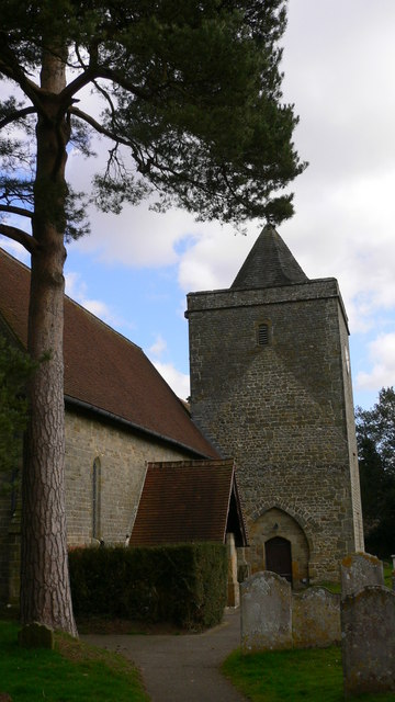 The tower of Stedham church