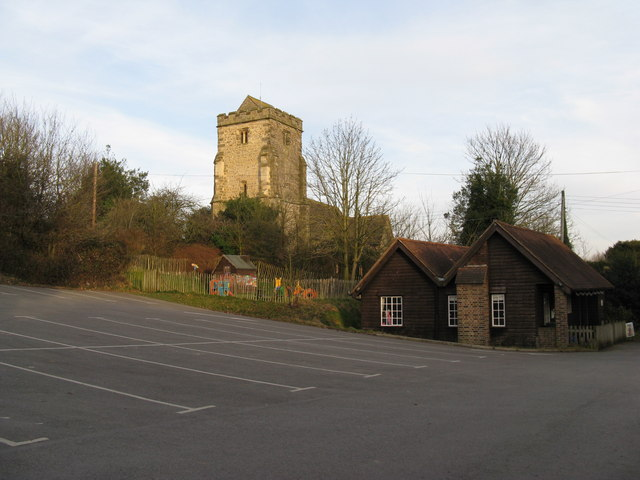 St Mary's Church Thakeham and car park