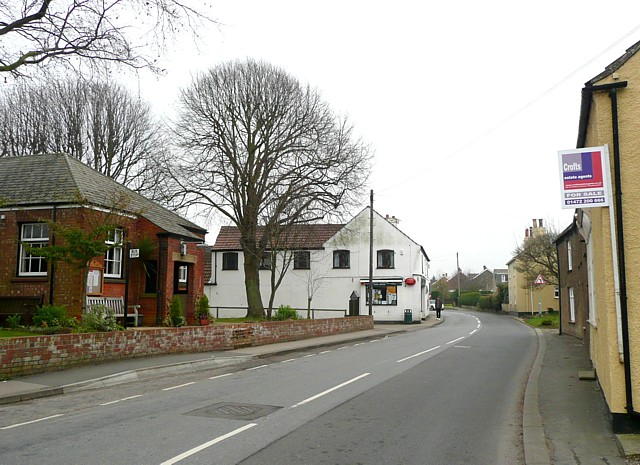 Village hall and post office, North Thoresby