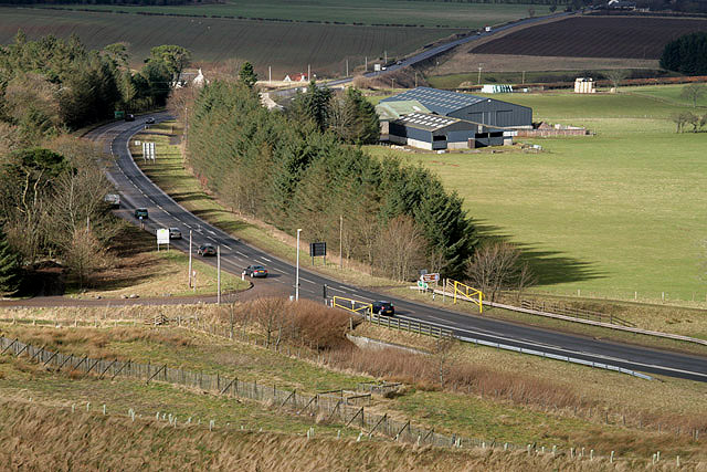 The A68 at Soutra