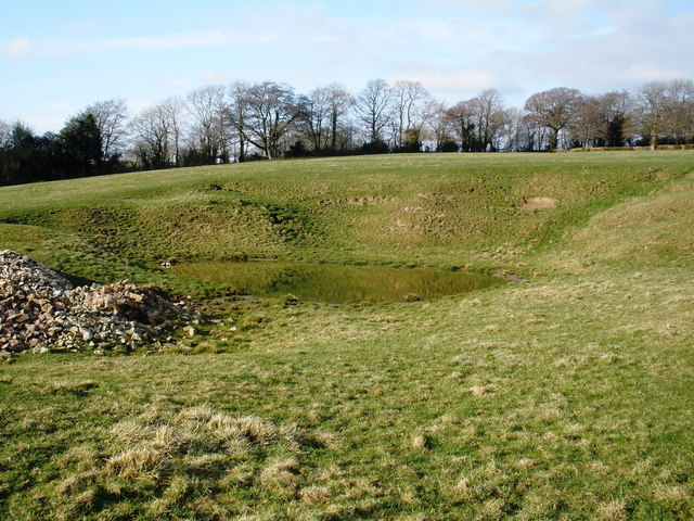 Earthworks, at Church Farm, Otterford