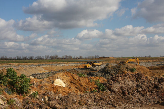 Sand and gravel extraction at Block Fen