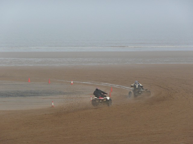 Quads racing on the beach, Mablethorpe