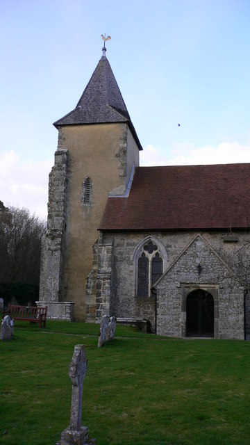 Porch and tower of Trotton church
