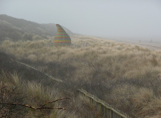 A mysterious object on the dunes, Mablethorpe