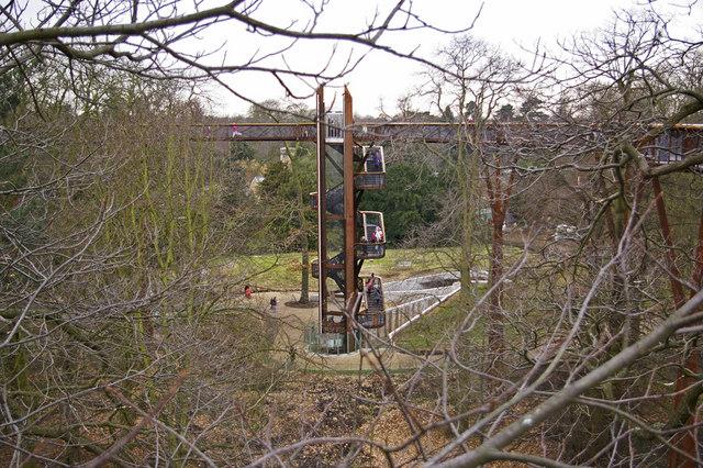 Access stairway to the Xstrata Treetop Walkway and Rhizotron, Kew Gardens, Surrey