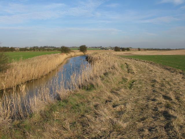 Looking towards St Nicholas at Wade along the River Wantsum