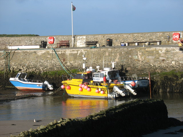 Lobster boats at Cemaes Harbour