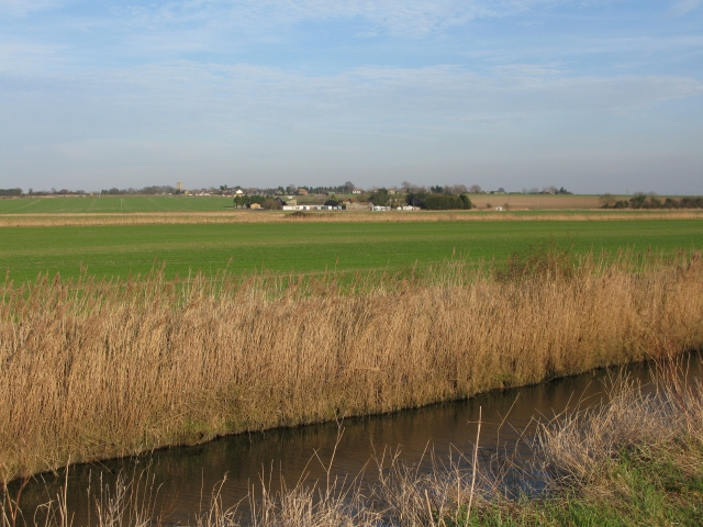 View across River Wantsum to Down Barton and St Nicholas at Wade