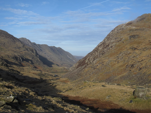 View down the Llanberis Pass