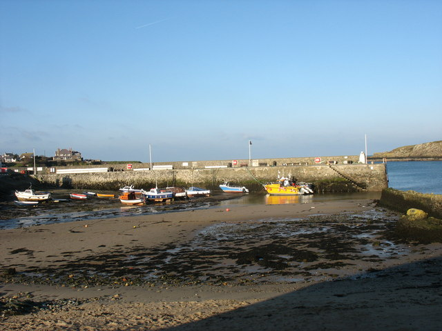 The breakwater at Cemaes Harbour