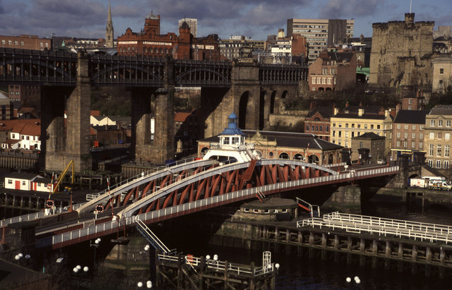 Newcastle Swing Bridge and High Level Bridge