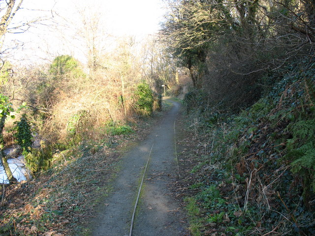 Section of brick factory tramway north of the A5025