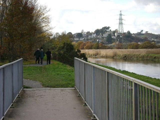 Templer Way crosses Aller Brook