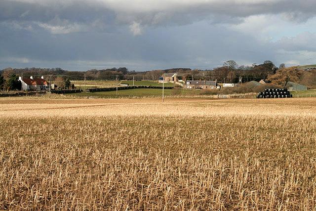 A stubble field at Baxtersyke