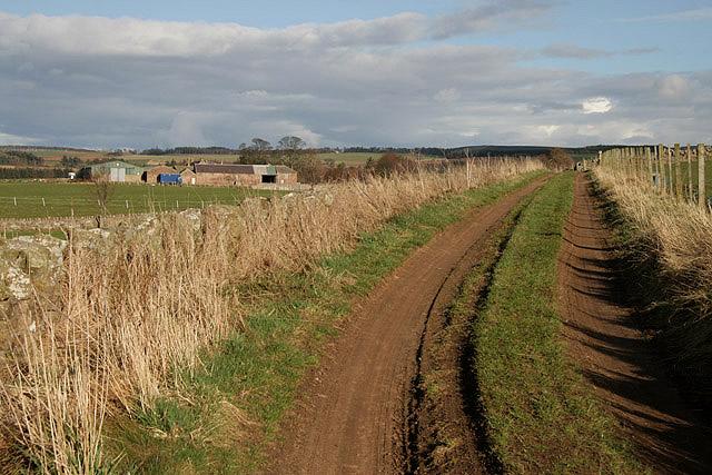 A track to Castle Mains Farm