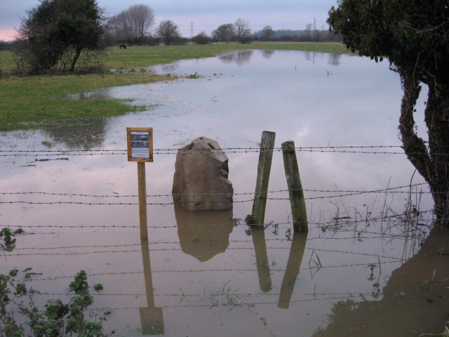 Flooded monolith at Bear Mead