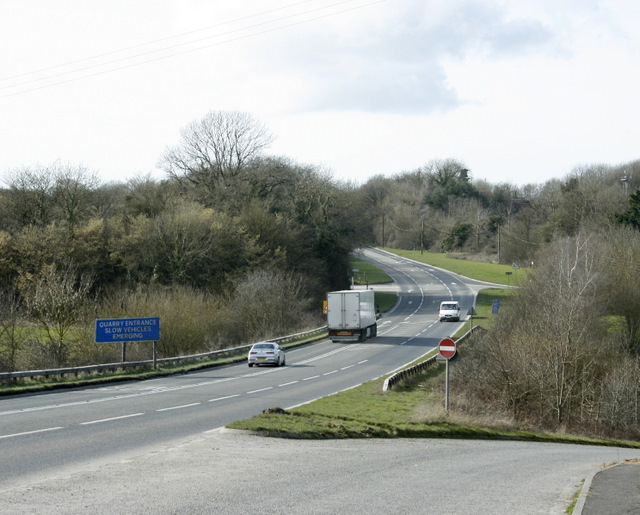 2009 : A361 at Holwell
