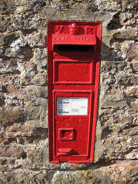 Victorian postbox, Brockhampton