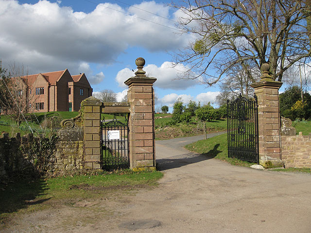 Gated entrance to Brockhampton Court