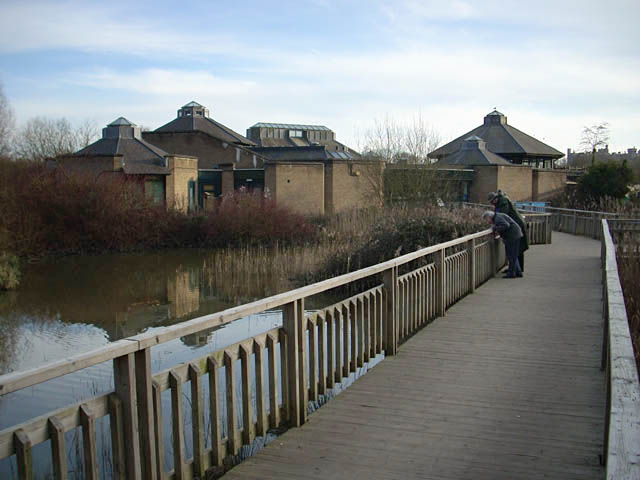 Visitor centre at the Wildfowl and Wetland Trust