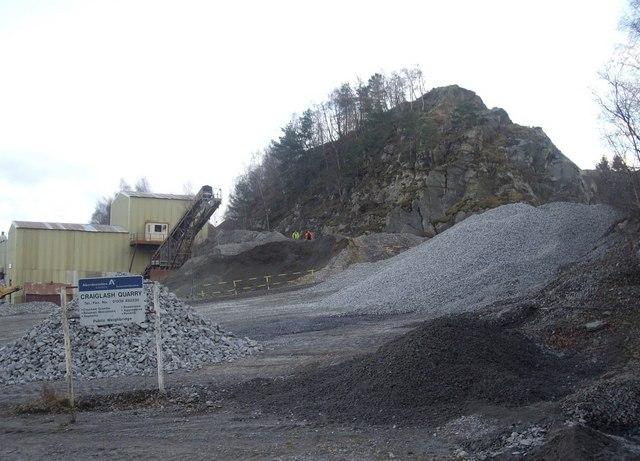 Craiglash Quarry - Council notice board