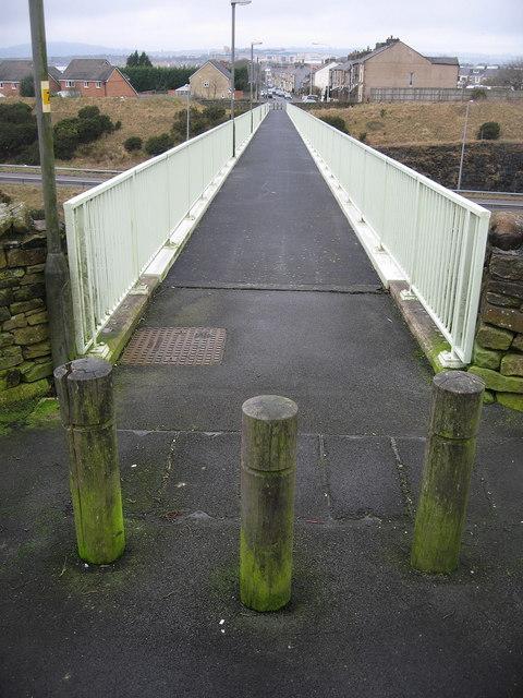Footbridge over the M65