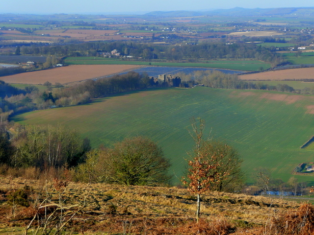 Long view to Goodrich Castle