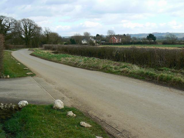 The road to Bushton
