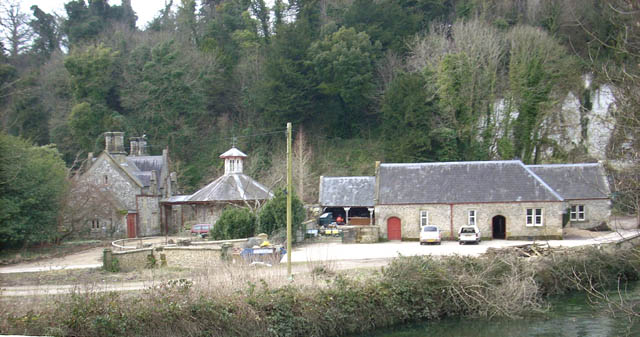Home Farm from Swanbourne Bridge
