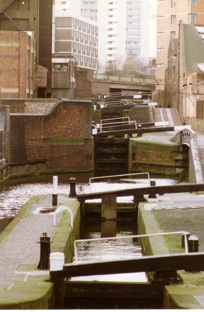 Canal Locks, Birmingham January 1989