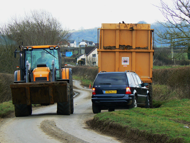 Gridlock, near Bushton