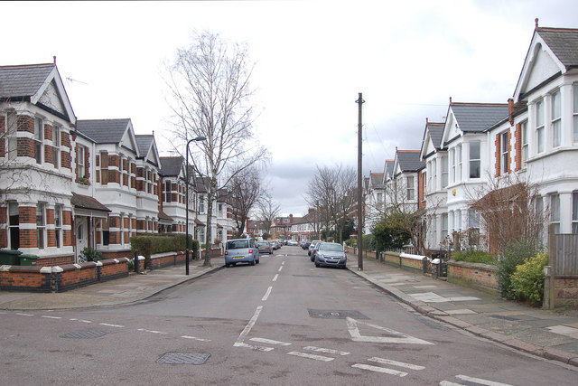 Junction of Grasmere Avenue and Messaline Avenue, Acton, W3