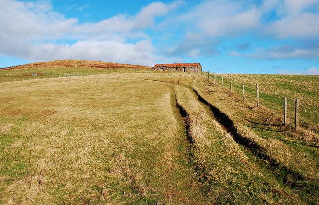 Rutted track near Claybrae