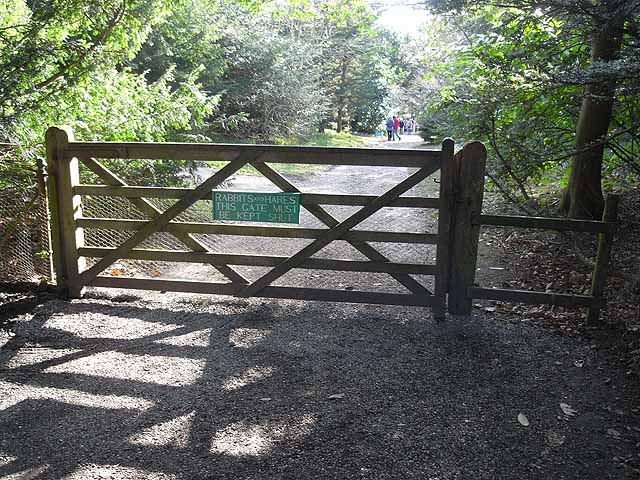 Gate to Howick Hall Gardens