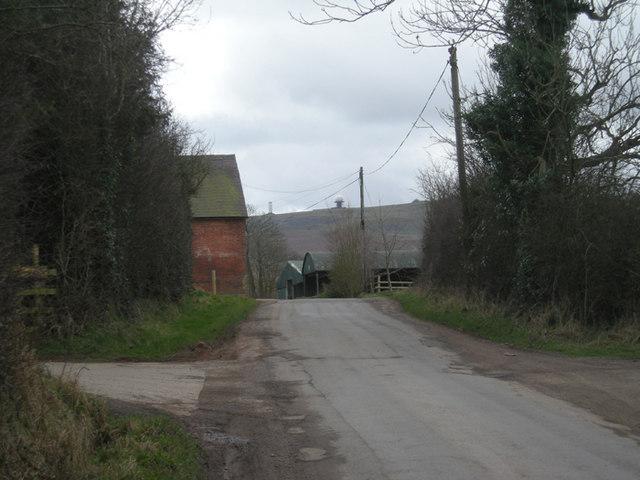 Lane to Bromdon Farm