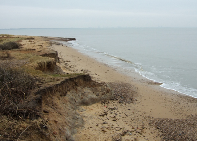 Cliffs and beach, The Naze