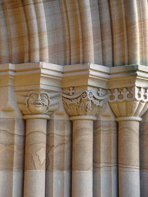 Capitals at the West Door of St Michael's and All Angels, Howick