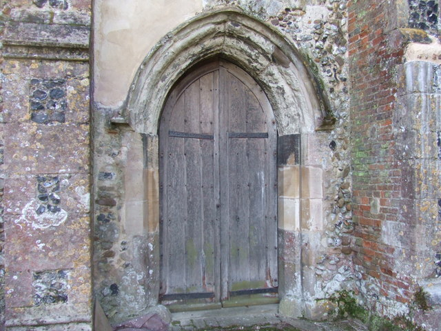 North door of St. Marys Church, Woolpit